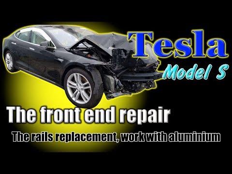 Tesla Model S. Body Repair. Ремонт кузова.