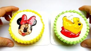 Disney Baby Cake & Kiddie Cake (Minnie Mouse & Winnie the Pooh for Birthday Party)