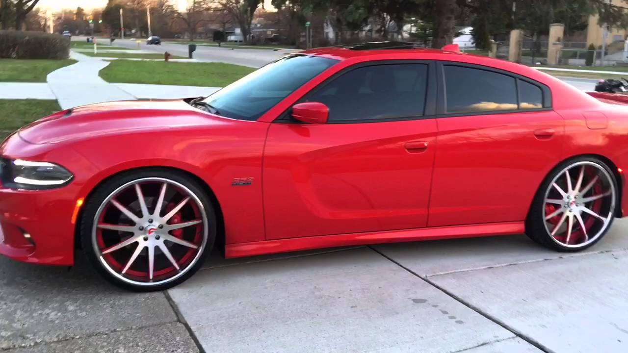 White Challenger Black Rims >> 2015 Challenger SRT8 and 2016 Charger SRT8 on 26 Inch ...