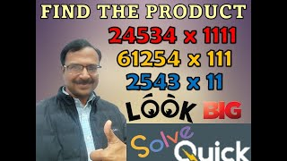 Trick 67 - Multiply Numbers with 11, 111, 1111......Mentally