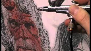 DREW STRUZAN Conceiving & Creating the Hellboy Movie Poster Art - PAINTING