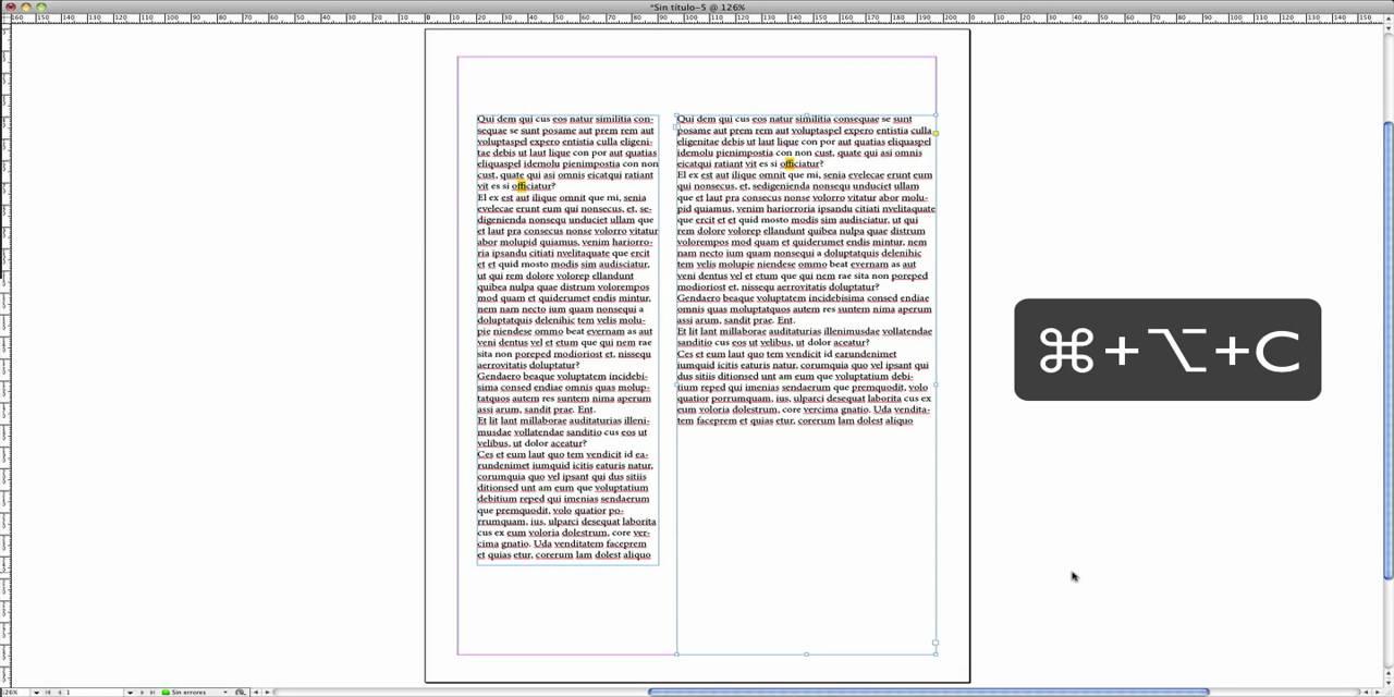 InDesign CS5 Ajuste automático de cajas de texto - YouTube