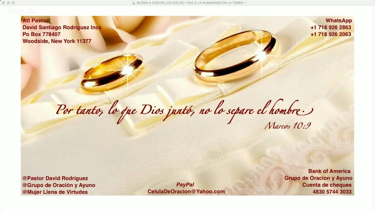 Bendicion Matrimonio Biblia : El propósito de dios en matrimonio mensaje