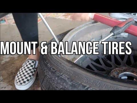 Dismount Mount Balance Tires At Home Youtube