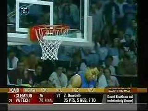 Tyler Hansbrough Hit By Gerald Henderson