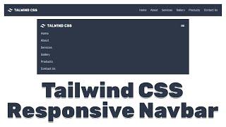 tailwind css responsive navbar