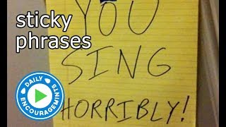 Sticky Phrases - Daily EncourageMints