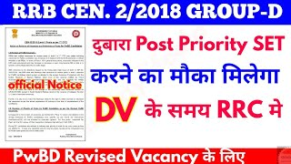 RRB Group D 2/2018 Post Priority Selection for PwBD thumbnail