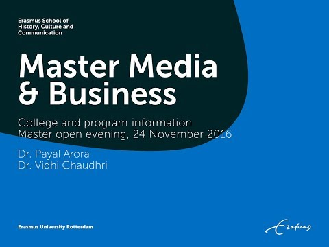 Master Media & Business - information session