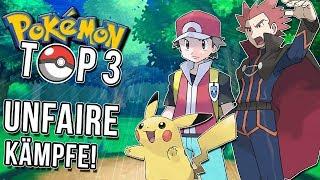 Top 3 der unfairsten Kämpfe in Pokemon!