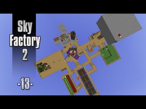 Dansk Minecraft - Sky Factory 2 #13 - Creative flight, travel anchors og wireless charging (HD)