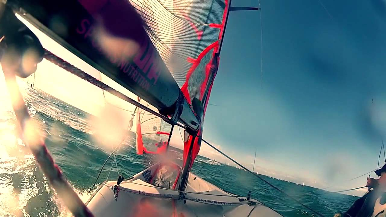 Heavy wind 29er sailing with GoPro - YouTube