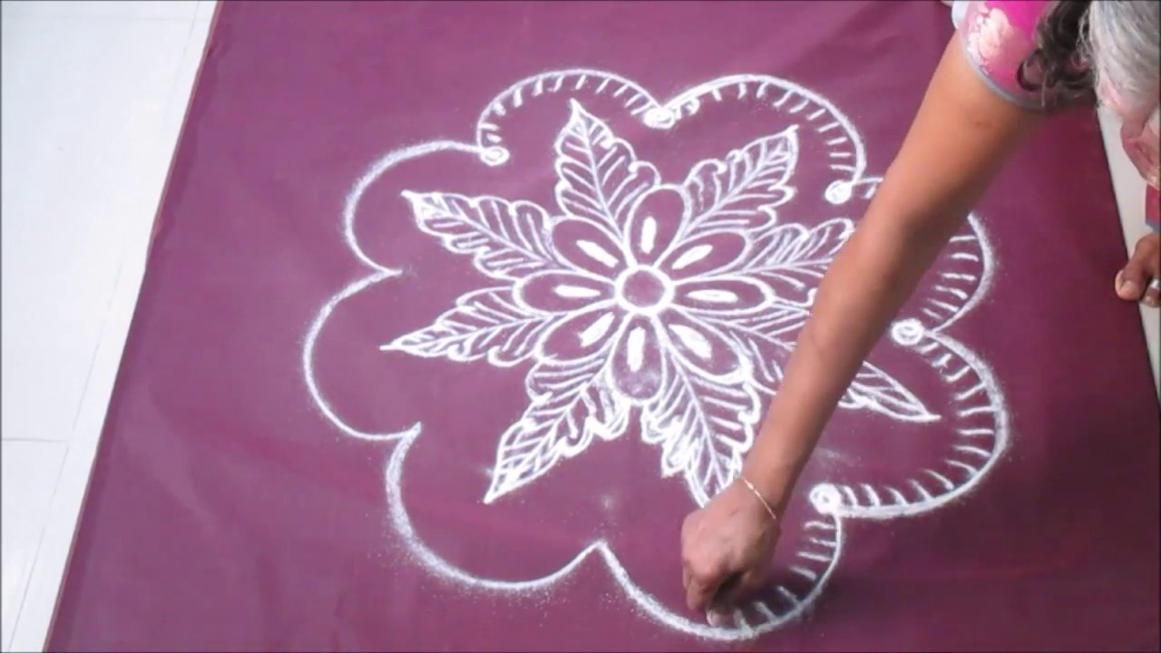 festival kolam saraswathi pooja youtube