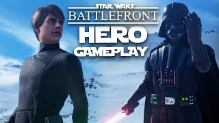 Star Wars Battlefront Vader Gameplay & Luke Skywalker Gameplay