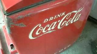 Vintage / Antique Reach-In Electric Coca Cola Cooler