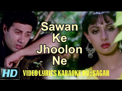 SAWAN KE JHOOLON NE -  NIGAHEN -  HQ VIDEO LYRICS KARAOKE