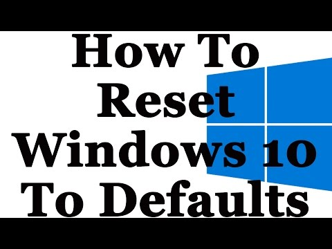 How To Restore Windows 10 Back To Factory Default Settings