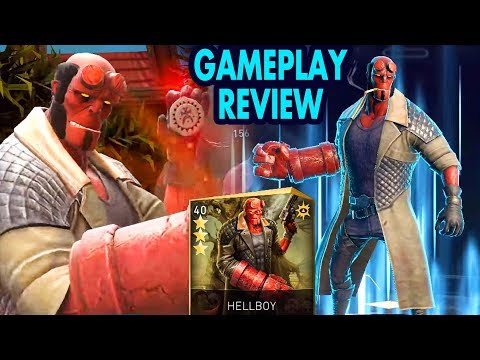 Injustice 2 Mobile. Hellboy Review + Gameplay. I expected much more from him…
