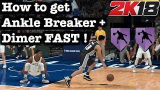 NBA 2K18 How to Get Dimer Badge + Ankle Breaker Badge Tutorial How to get badges tutorial 2k18 #4