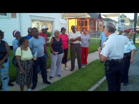 NOPD 3rd District Crime Walk, Hollygrove neighborhood, 7-29-10