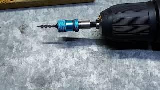 Portapunta magnético y limitador de profundidad . Adjustable Screw Depth Magnetic Screwdriver Holder