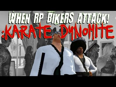 Second Life - When RP Bikers Attack: KARATE DYNOMITE (trolling)