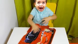 child play with the puzzle cars ,video for kids, kids boys