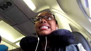 My first time Flying on a Plane REACTION to Orlando, florida. ! I CRIED! 😥