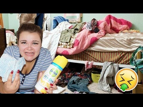 cleaning my room for the first time in a year...*EW*