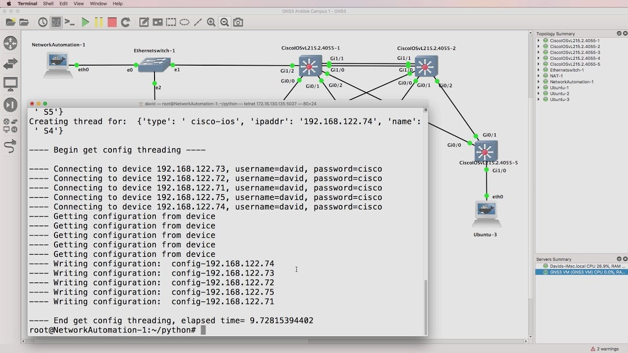 Python Netmiko threading: Demo of sequential vs threading vs threading  pool  What a difference! by David Bombal