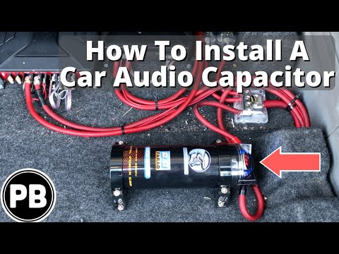 how to install a car audio capacitor in your vehicle youtube. Black Bedroom Furniture Sets. Home Design Ideas