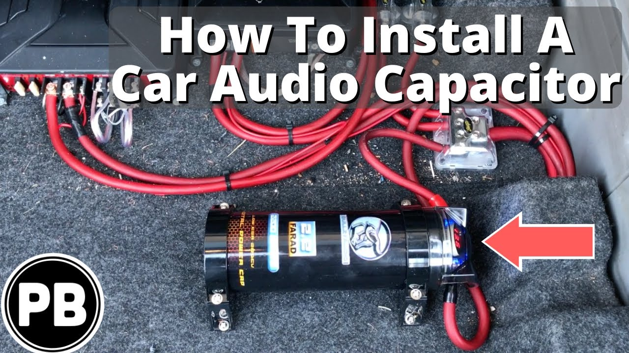 how to install a car audio capacitor in your vehicle power capacitor connection car capacitor wiring diagram speaker