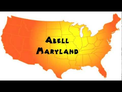 How to Say or Pronounce USA Cities — Abell, Maryland