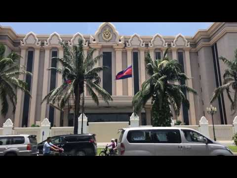 [4K]Peace Palace Government Office in Phnom Penh, Cambodia 2017