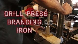 Drill Press Branding Iron(Watch Drill Press Branding Iron to get a first hand look at one of the best methods for branding your wood working projects. http://LogFurnitureHowTo.com In this ..., 2015-10-30T15:24:15.000Z)