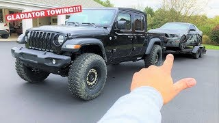 """TOWING OVER THE WEIGHT LIMIT With My MANUAL Jeep Gladiator on 37""""S... *DON'T TRY THIS AT HOME*"""