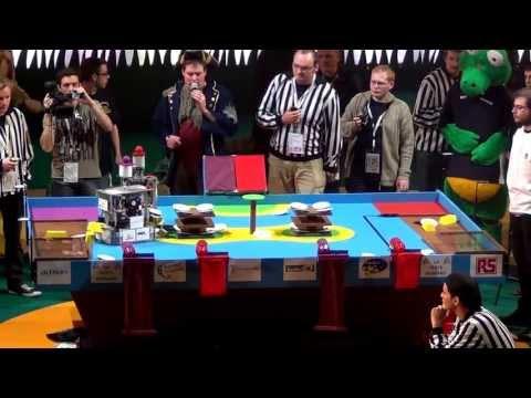 2012 - LES DTRAQUES vs R3EA - Coupe de France de robotique 2012 - 8ème de finale