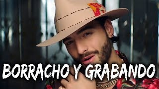 Maluma graba borracho para su nueva cancion