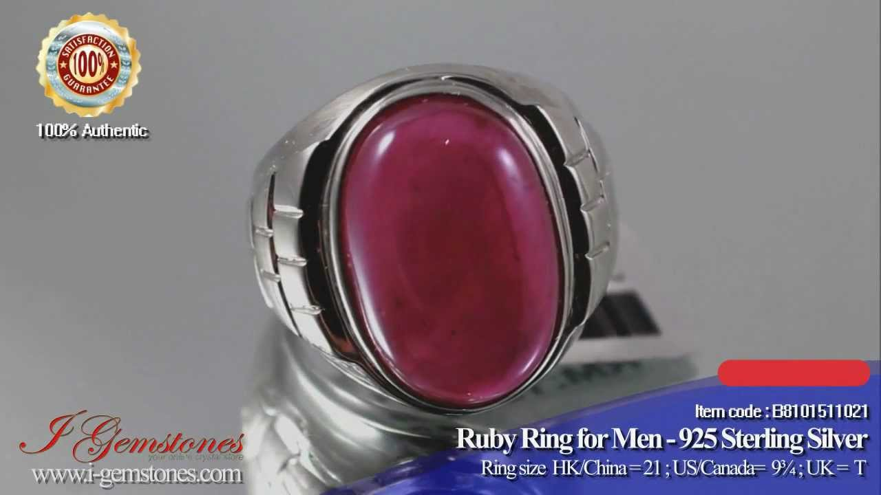 Completely new Ruby Ring for Men - wealth, power, long life & health - YouTube DS17