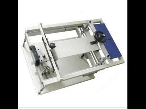 Cylinder Manual Screen Printer, Manual Screen Printing Machine For Metal Bottle
