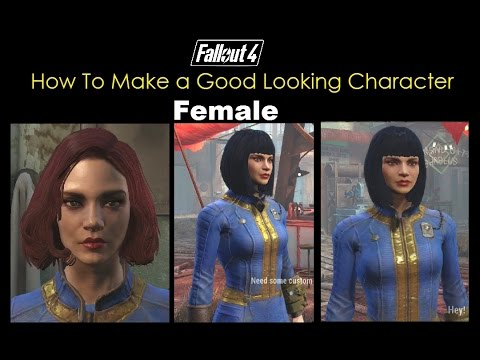 Fallout 4 How To Make a Good Looking Character - Female! :D (No mods)