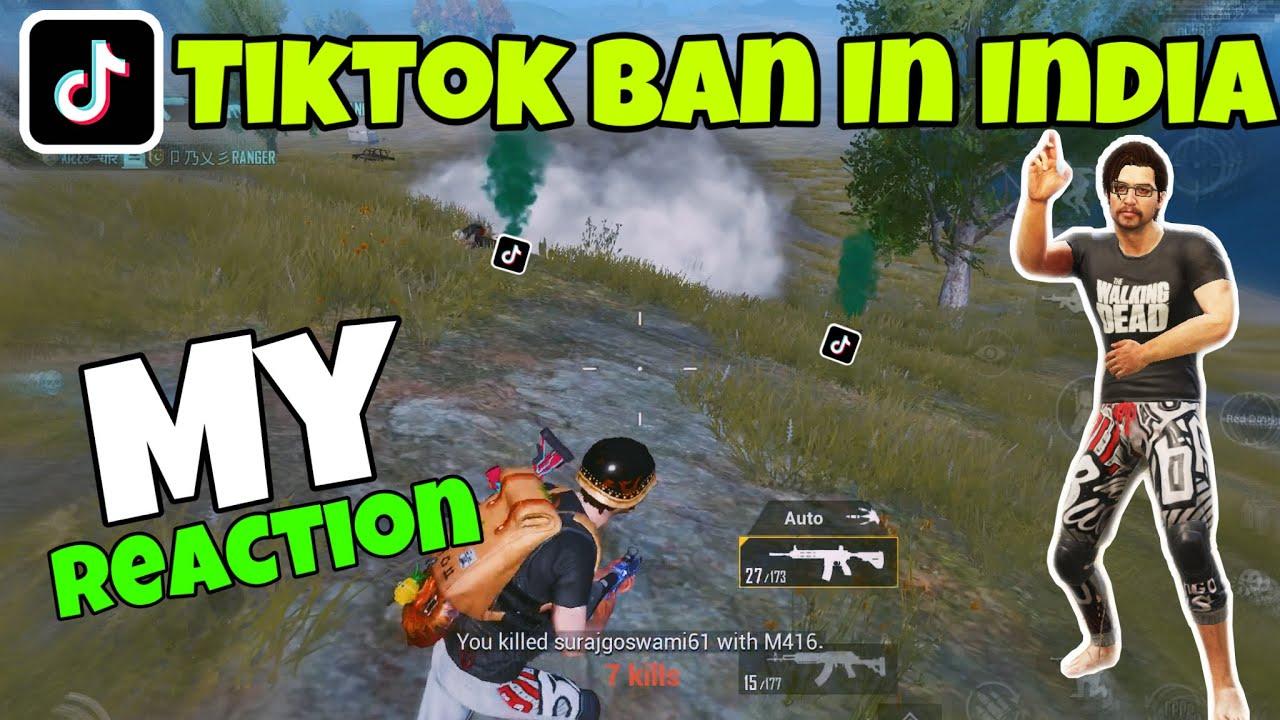 Tiktok Ban In India | My Reaction 😅 | Tiktokers Vs Pubg Lovers Gameplay