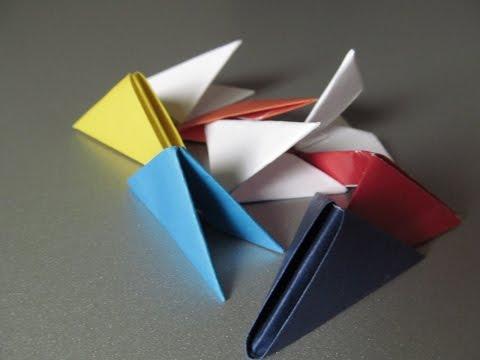 МОДУЛЬНОЕ ОРИГАМИ. Как сделать треугольные модули. Видео
