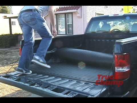 Rubber bed mat truck bed liner from truckchamp youtube solutioingenieria Choice Image
