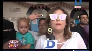 صباح دريم المصرية للاتصالات ترسم البسمة على وجوه الأطفال بمستشفى 57357