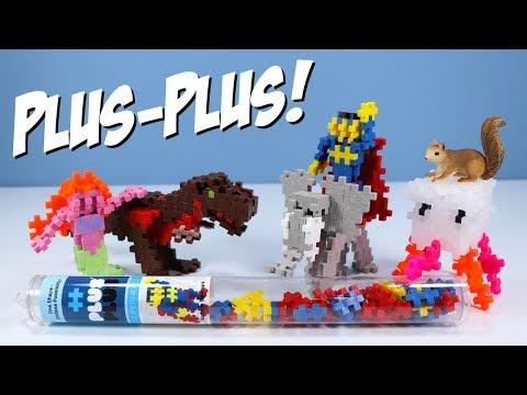 Plus-Plus Mini Maker Tubes Superhero T-Rex Jellyfish Toy Building Sets