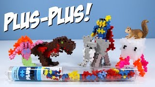 Plus-Plus Mini Maker Tubes Superhero T-Rex Jellyfish Toy Building Sets