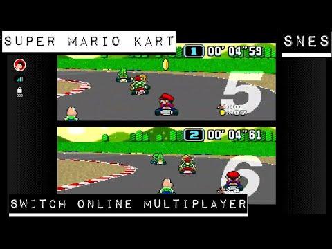 Super Mario Kart - SNES Switch Online - Multiplayer Online Gameplay