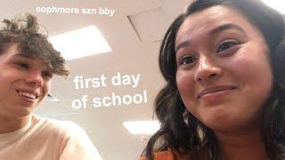 FIRST DAY OF SCHOOL GRWM + VLOG (sophomore edition)
