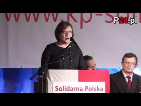 Wystąpienie Beaty Kempy podczas konwencji Solidarnej Polski w Jarosławiu - P24.pl